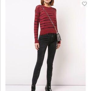 NEW • Rag & Bone • Penn Sheer Stripe Crop Sweater